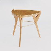 Tri-pod Table-Olive Ash Burl