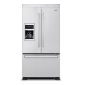 """36"""" French-Door Bottom-Mount Refrigerator/Freezer with Ice and Water Dispenser"""
