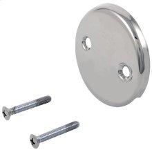 Chrome Overflow Plate & Screws - No Trip Lever