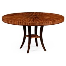"""54"""" Art Deco High Lustre Round Dining Table"""