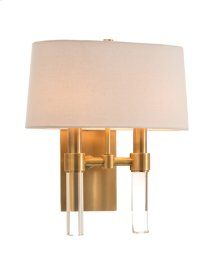 Glass Rod Two-Light Wall Sconce