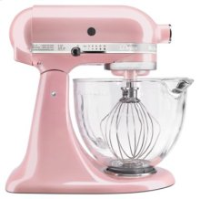Artisan® Design Series 5 Quart Tilt-Head Stand Mixer with Glass Bowl - Silk Pink
