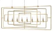 Metro Gold Rectangular Chandelier