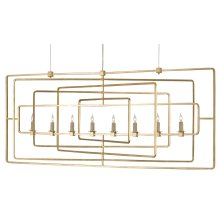 Metro Gold Rectangular Chandelier