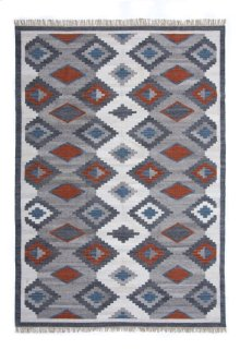 9'x12' Size Handwoven Bordered Modern Kilim Rug