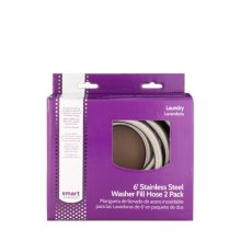 Smart Choice Braided Stainless Steel 6' Washer Fill Hoses