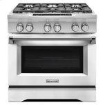 Kitchenaid36'' 6-Burner Dual Fuel Freestanding Range, Commercial-Style - Imperial White