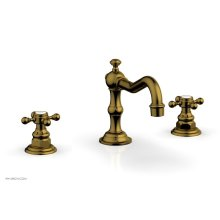 HENRI Widespread Faucet - Cross Handles 161-01 - French Brass