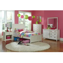 Chadwick 5pc Twin Bedroom Suite - White