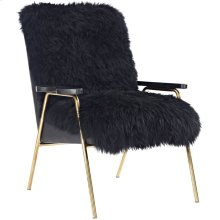 Sprint Sheepskin Armchair in Black Black