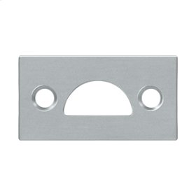 Mortise Strike, Solid Brass - Brushed Chrome