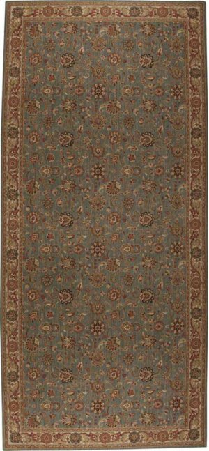 Hard To Find Sizes Grand Parterre Pt01 Blue Rectangle Rug 9' X 20'