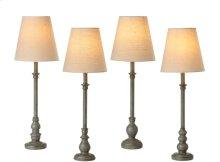 Distressed Grey Buffet Lamp. 40W Max. (4 pc. ppk.)