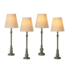 Distressed Grey Buffet Lamp. 40W Max. (4 pc. ppk.)