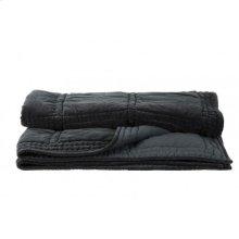 Blanket 180x130 cm THROW velvet grey green
