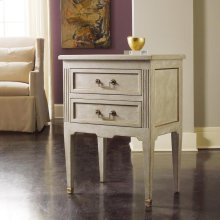 Manor House Bedside Chest, Painted Antique Grey.
