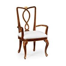 Antique Mahogany Brown Dining Armchair - COM