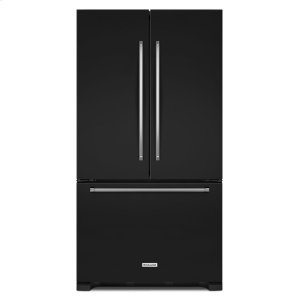 20 cu. ft. 36-Inch Width Counter-Depth French Door Refrigerator with Interior Dispense - Black - BLACK
