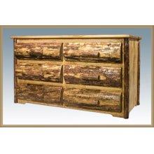 Glacier Country Rustic 6 Drawer Dresser