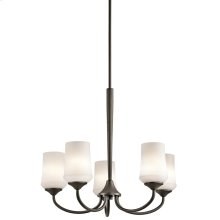 Aubrey Collection Aubrey 5 Light Chandelier - Olde Bronze OZ