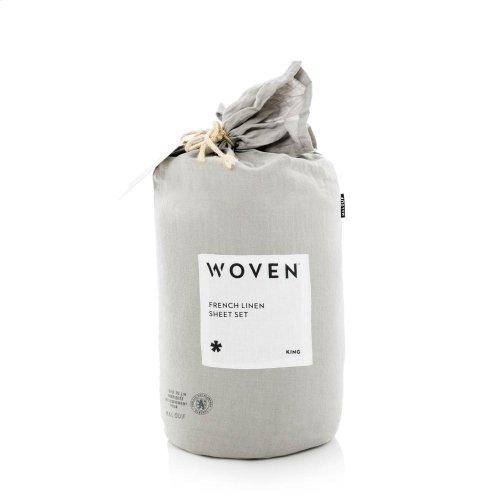 French Linen - Queen Pillowcase White