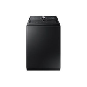 Samsung5.0 cu. ft. Top Load Washer with Super Speed in Black Stainless Steel