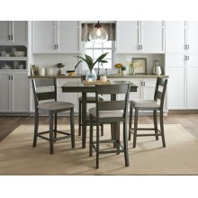 STANDARD 13100-13102 Loft Counter Height Table With 4 Chairs