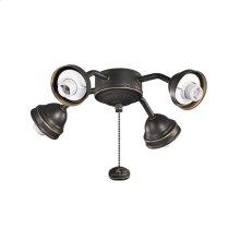 Bent Arm Fitter 4 Light Olde Bronze®