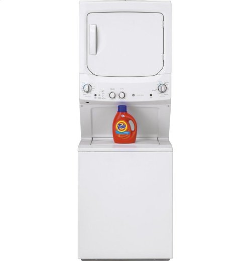 GE Unitized Spacemaker® 3.8 DOE cu. ft. Stainless Steel Washer and 5.9 cu. ft. Electric Dryer