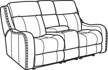 Springfield Fabric Power Reclining Loveseat with Console and Power Headrests