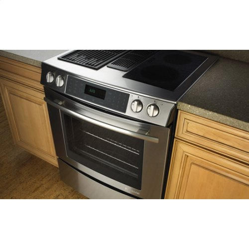 "30"" Slide-In Modular Electric Downdraft Range with Convection"