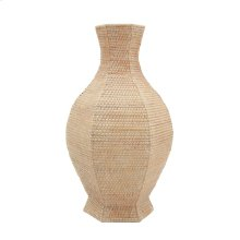 Batam 6-sided Baluster Vase, Natural