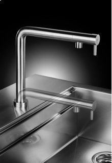 Unique Concept With Telescopic Spout That Slides Up and Down and Control Positioned On the Head of the Tap