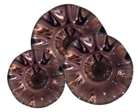 Purple Scalloped Mercury Glass Bowls