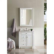 "Bristol 30"" Single Bathroom Vanity, Cottage White"
