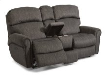 Langston Fabric Power Reclining Loveseat with Console and Power Headrests