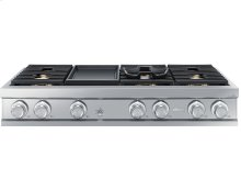 "48"" Gas Rangetop, Graphite Stainless Steel, Natural Gas"