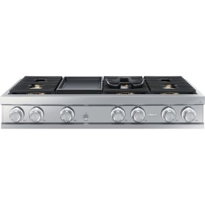 "Dacor48"" Gas Rangetop, Stainless Steel, Liquid Propane/High Altitude"