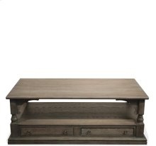 Juniper Rectangular Coffee Table Charcoal finish