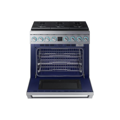 """36"""" Dual Fuel Professional Range in Stainless Steel"""