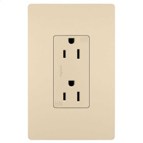 Weather-Resistant Receptacle, Ivory