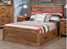 Pemberton Double 4 Drawer Storage Platform Bed With 32'' High Footboard