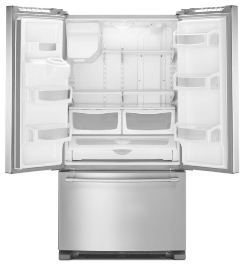 [CLEARANCE] 36- Inch Wide French Door Refrigerator with PowerCold® Feature - 25 Cu. Ft. Clearance stock is sold on a first-come, first-served basis. Please call (717)299-5641 for product condition and availability.
