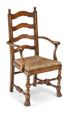 Walnut Ladder Back Chair with Lion's Paw Feet (Arm)