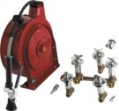 Hose Reel Assembly with Cover and Fitting Product Image