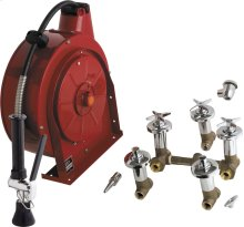 Hose Reel Assembly with Cover and Fitting