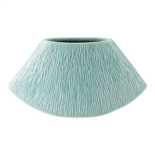 Lineal Large Planter Matte Green