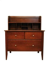 "Home Office Desk Hutch For 40"" + Tops, Suited For Lateral File"