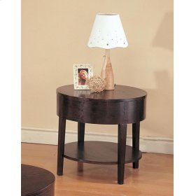 Gough Cappuccino Round End Table
