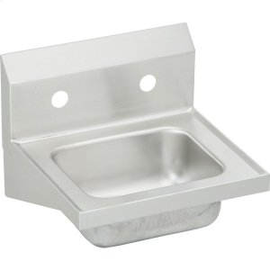 "Elkay Stainless Steel 16-3/4"" x 15-1/2"" x 13"", Single Bowl Wall Hung Handwash Sink Product Image"